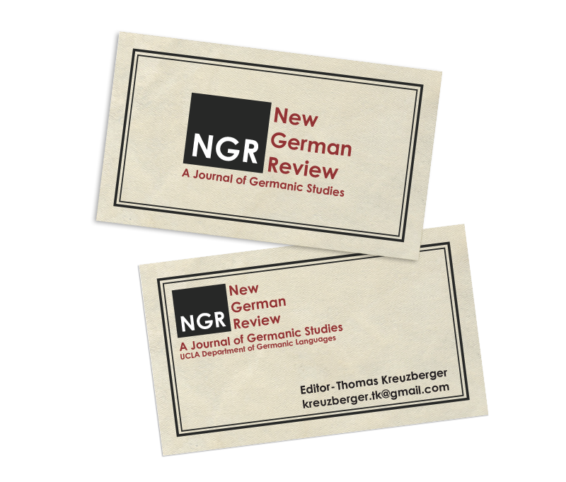 New German Review Business Cards